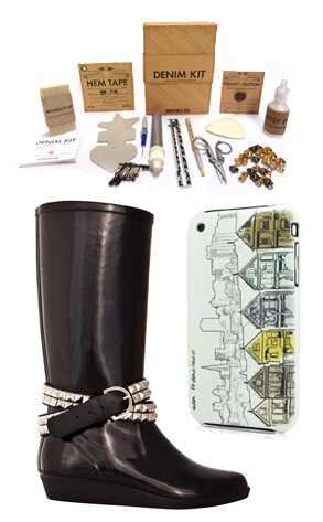 Dav Rain Boots, Power Support Case, Denim Kit