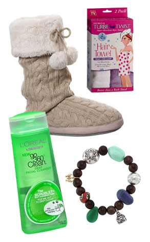Adesso Butterfly Project Bracelet, L Oreal Go 360 Clean Deep Facial Cleanser, Turbie Twist Hair Towel, Dearfoams Boot Slippers