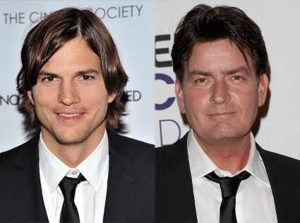 Ashton Kutcher, Charlie Sheen