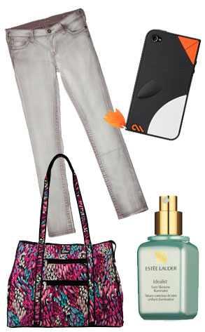Silver Jeans Co. Pixie Skinny Jean, Estee Lauder Idealist Even Skintone  Illuminator, iPhone 4 Waddler Case & California Leash Company