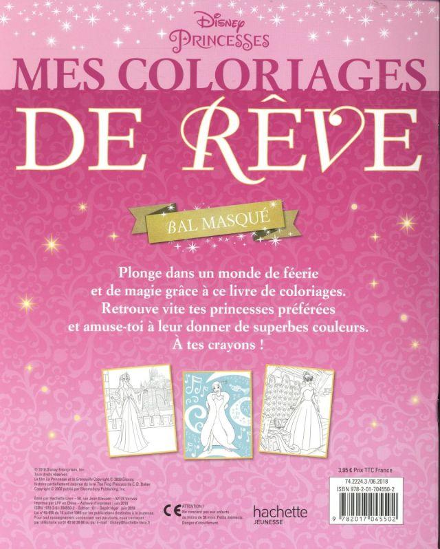 Mes coloriages de rêve ; Disney Princesses - Disney - Disney Hachette -  Papeterie / Coloriage - AL KITAB TUNIS LE COLISEE