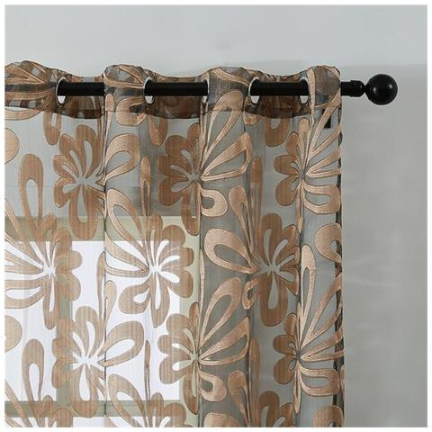 Hai mai provato ad acquistare un tenda camera da letto moderna perfetto? Slowmoose Pannelli Per Tende Trasparenti Geometriche Moderne Per Soggiorno Camera Da Letto Tende Per Cucina Tende Per Finestra Marrone W150cmxh250cm Anelli In Alto Gommino Eprice