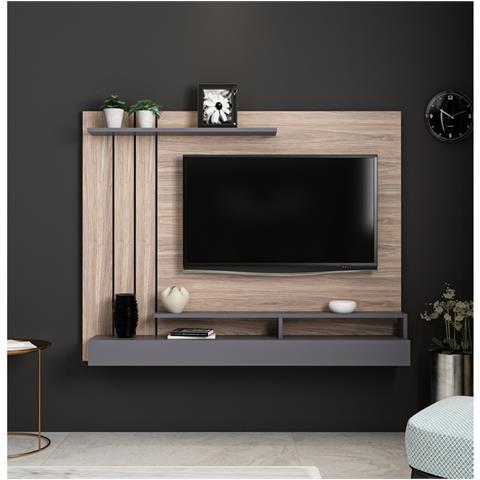 Se stai pensando di arredare il tuo soggiorno, potresti essere sopraffatto dal mettere insieme tutti i. Homemania Mobile Porta Tv Lawrance Moderno Da Parete Con Ripiani Da Salotto Antracite In Legno 157 X 21 X 120 Cm Eprice