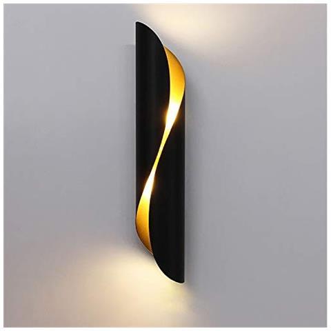 Acquista online applique classiche, moderne e di design. Universo Lampada Da Parete Design Spirale Alluminio E Ceramica Up Down Nero Eprice