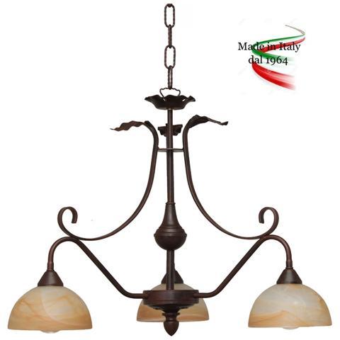 Arte e luce illuminotecnia roma. Valastro Lighting Rudyfb24113al Sp3 Nrm Lampadario A Sospensione Ferro Battuto Colore Nero Rame Eprice