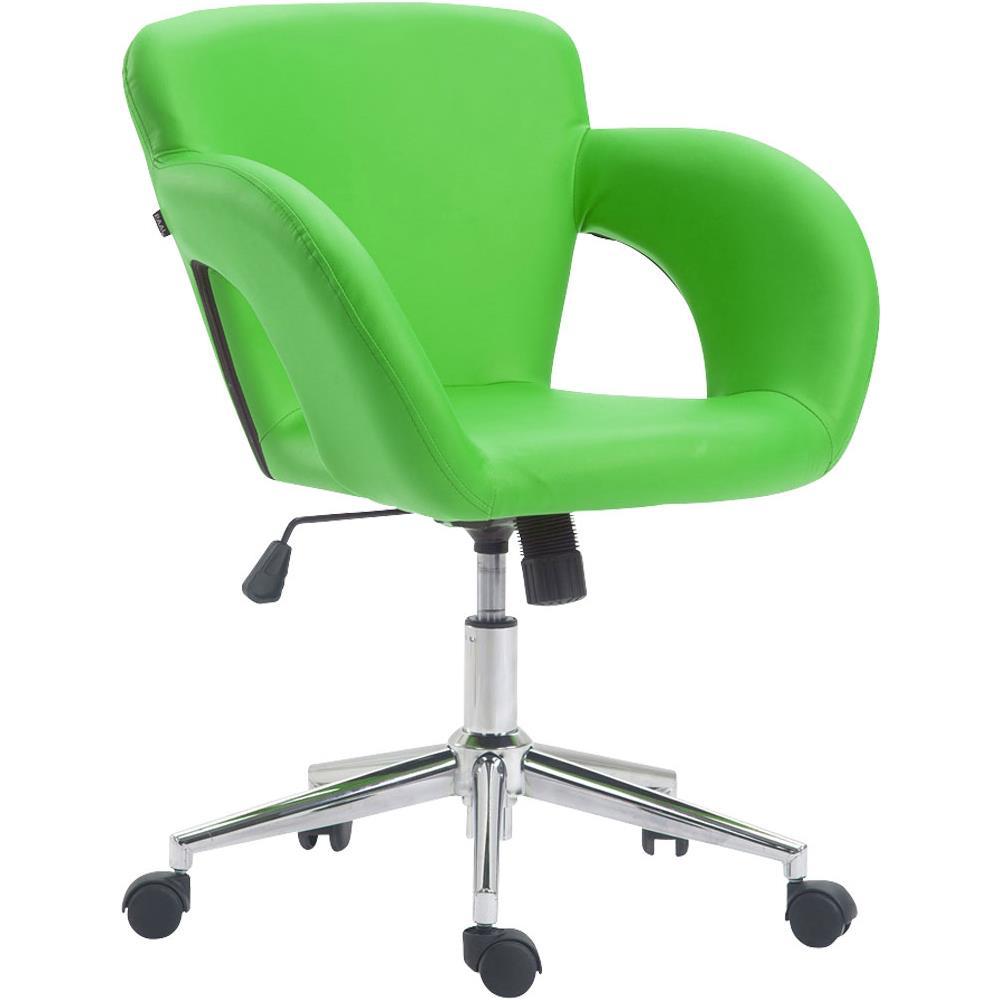 Solitamente l'ufficio è il luogo in cui si passa la. Clp Sedia Ufficio Edison In Similpelle E Metallo I Sedia Design Scrivania Imbottita E Oscillante I Poltrona Studio Regolabile Con 5 Ruote Verde Eprice