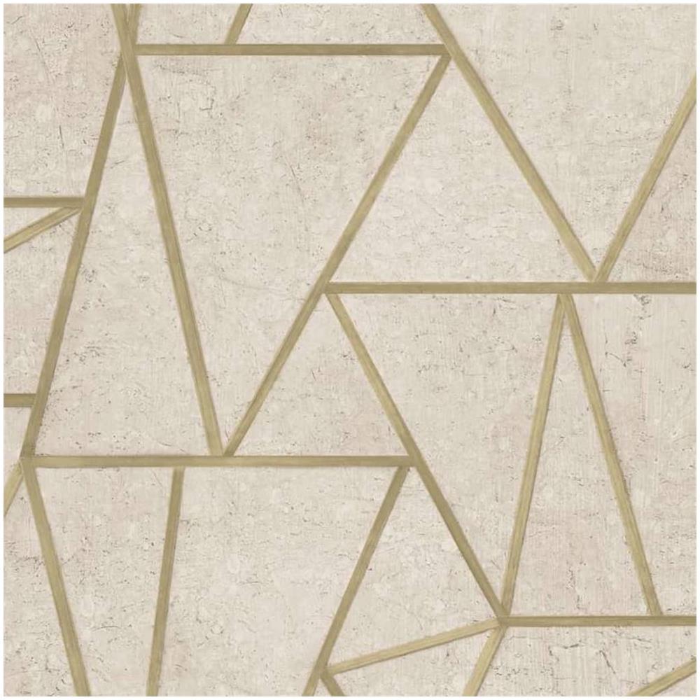 carta da parati bianca e nera. Dutch Wallcoverings Carta Da Parati A Forme Triangolari Beige E Oro Eprice