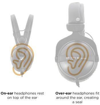 On-ear vs. over-ear headphones