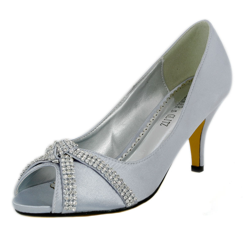 Ivory And Silver Wedding Shoes