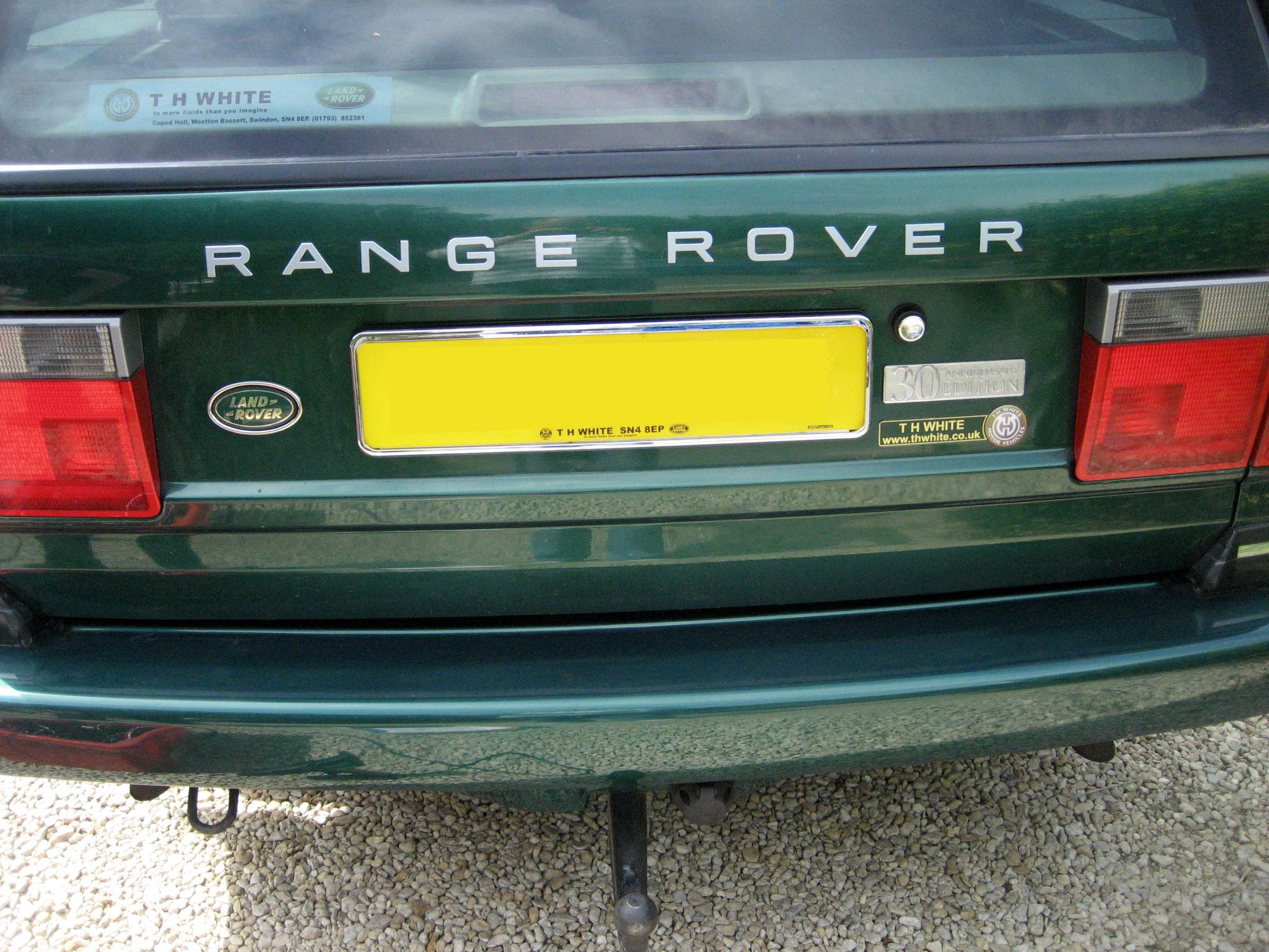 Chrome number plate surrounds x2 for Range Rover P38 P38a