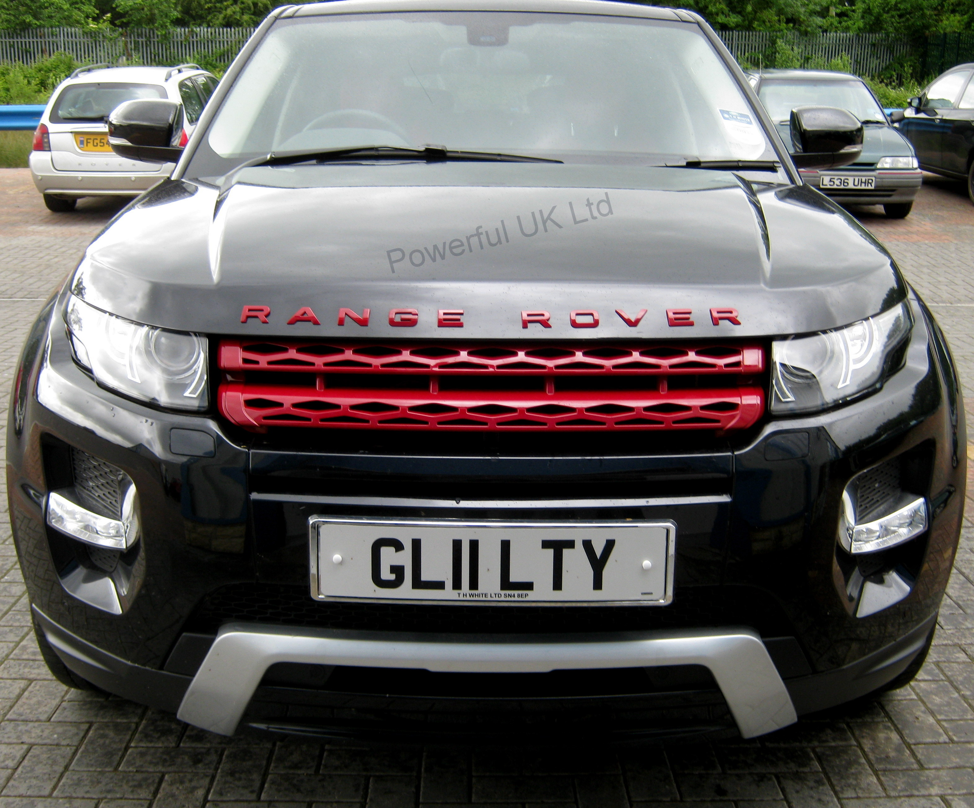 RED front grille upgrade for Range Rover Evoque Pure Dynamic