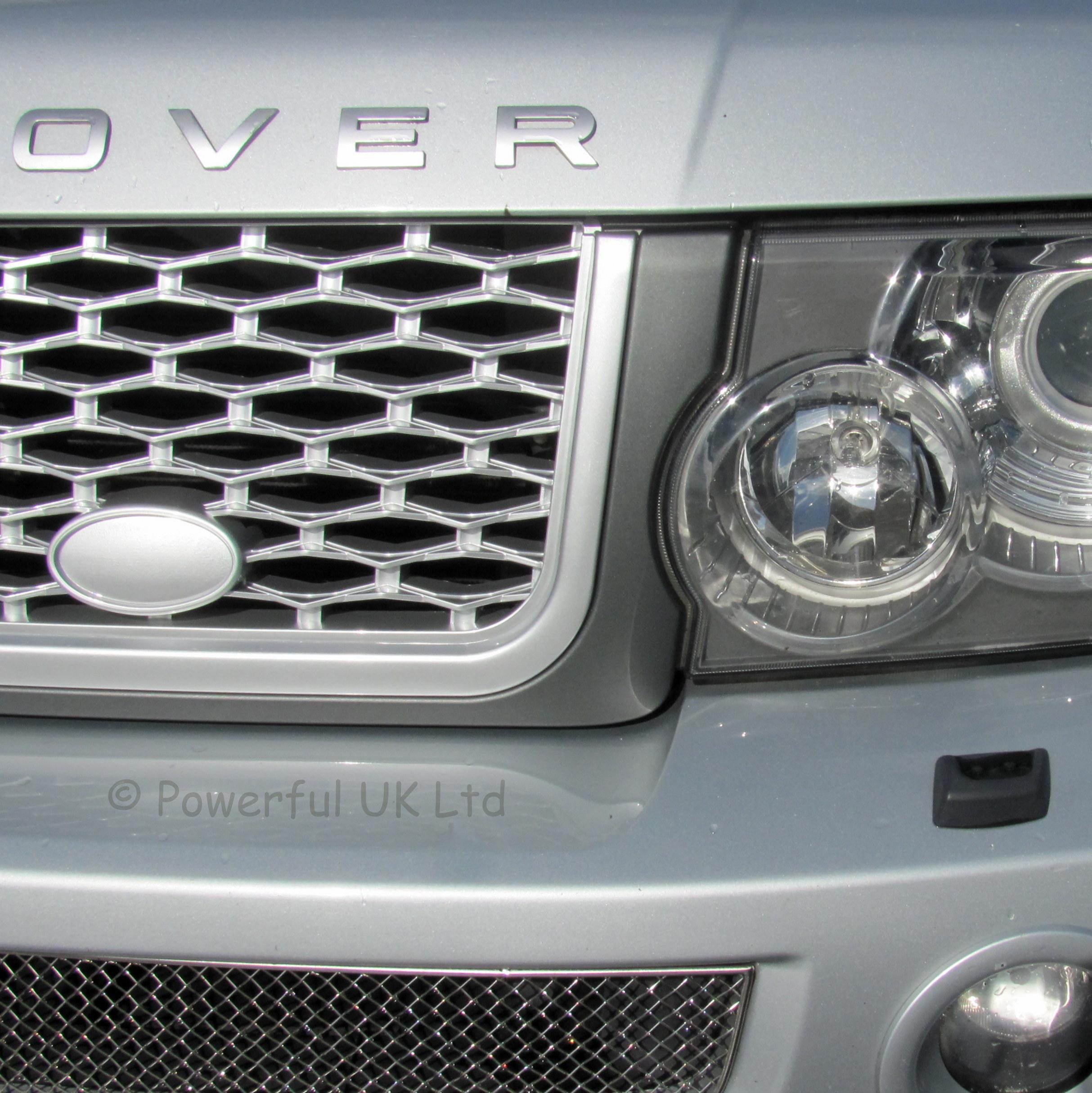 Grey silver grille side vent upgrade kit Range Rover sport 05 09