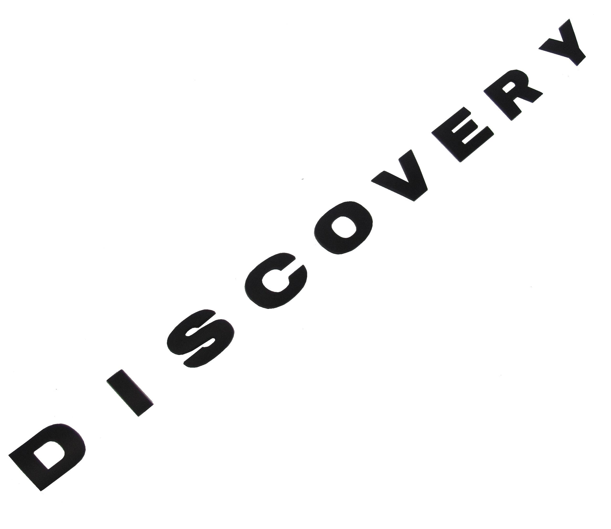 Matt Black Discovery Bonnet Lettering Upgrade Kit For