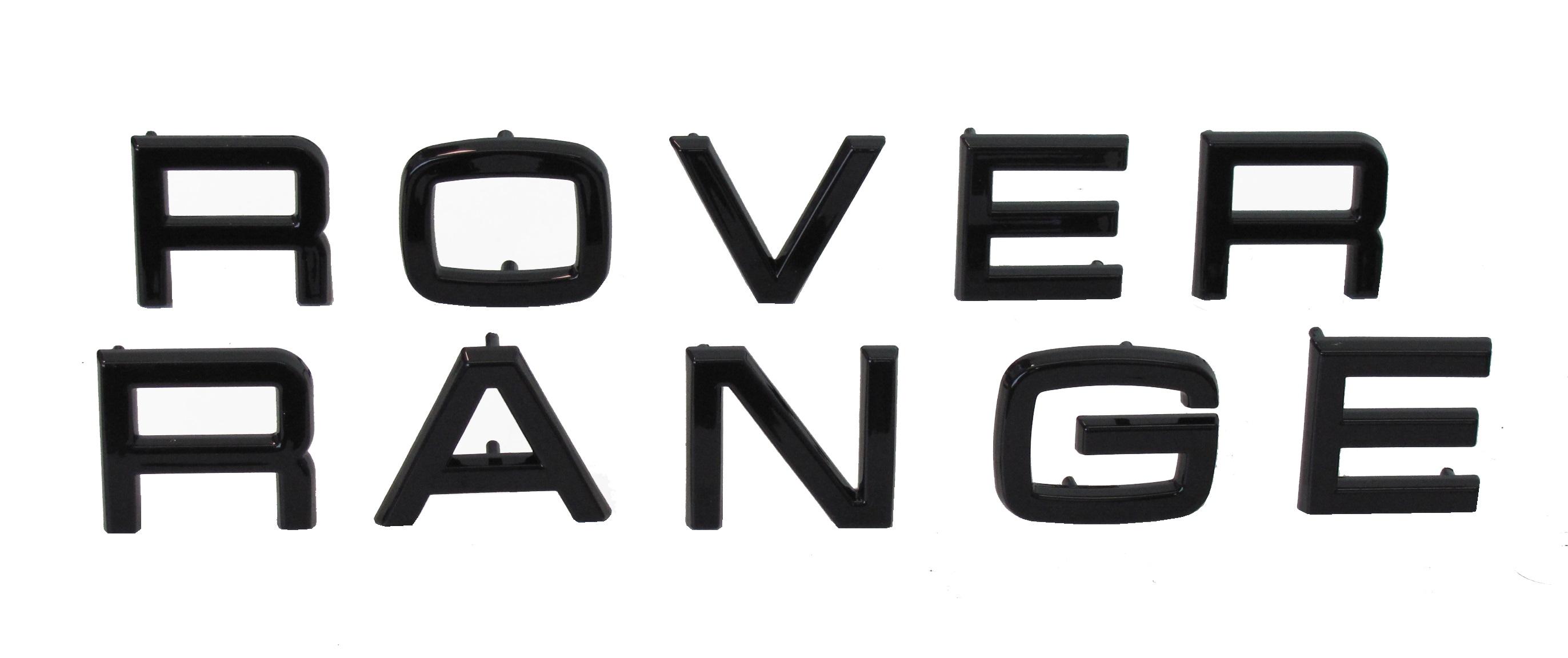Black Lettering Original Pin Type Range Rover Classic