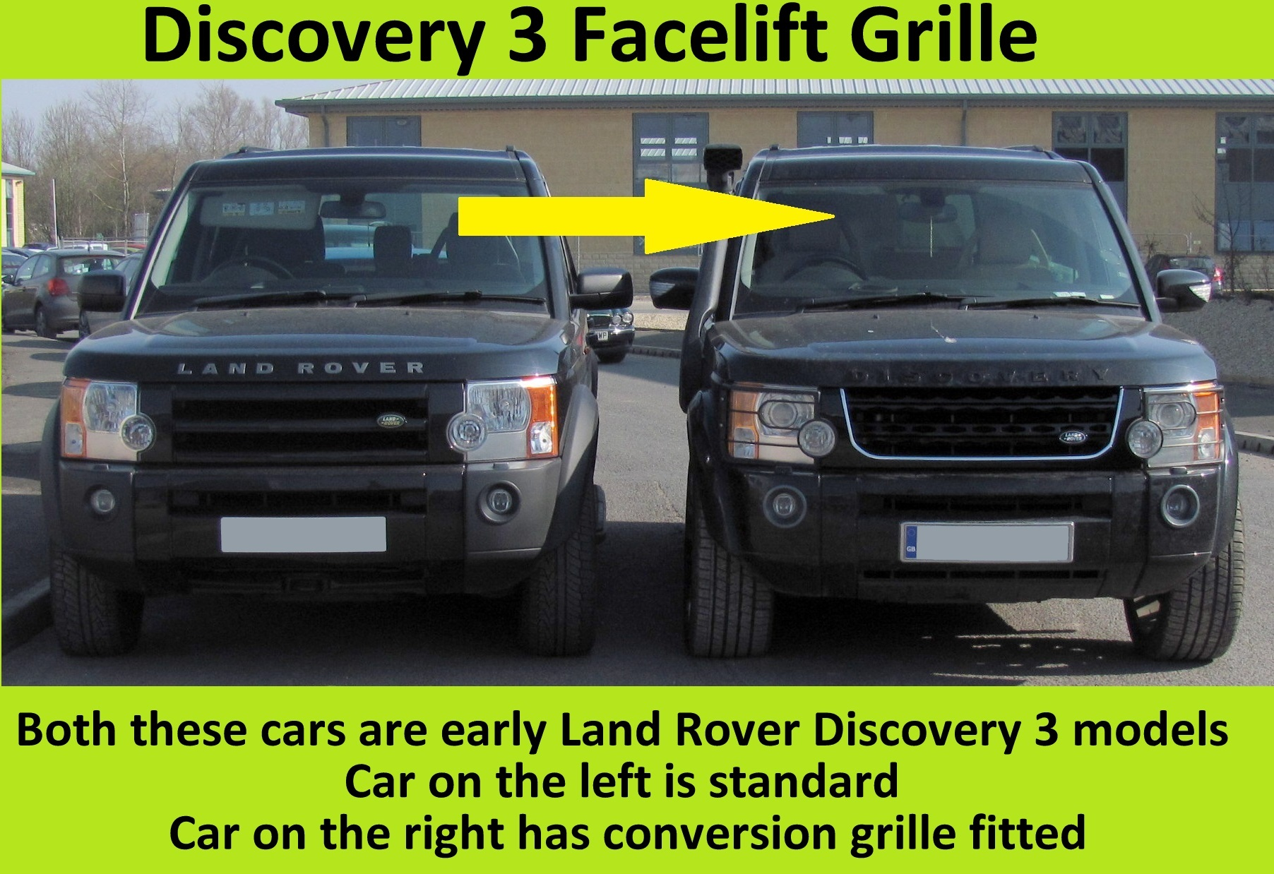 Black Chrome Chrome Disco 4 facelift style front grille Land Rover