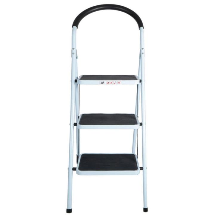 Step Non Slip Tread Folding Household Ladder Kitchen Stool New