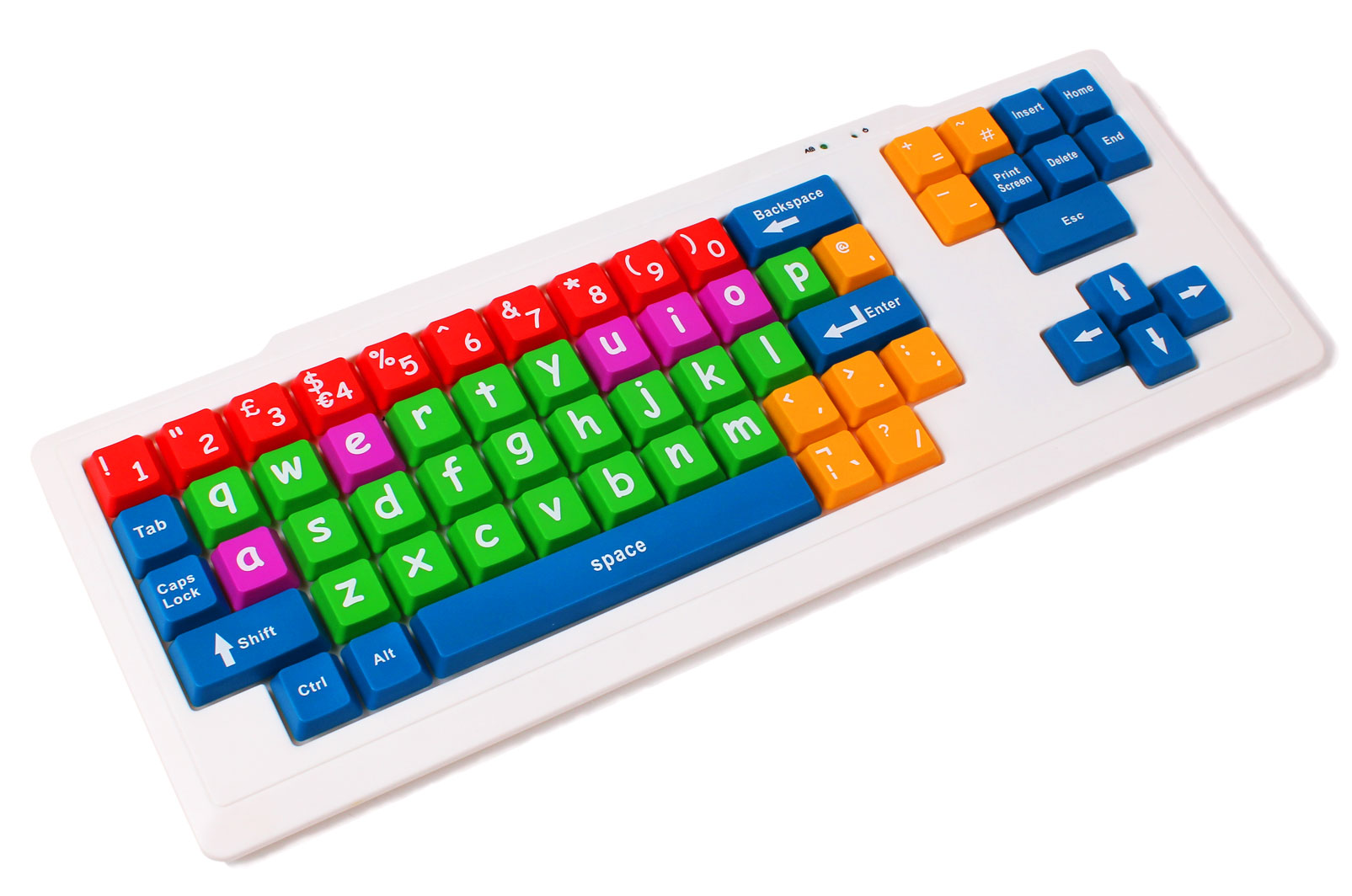 Large Coloured Child Proof Usb Computer Laptop Pc Keyboard