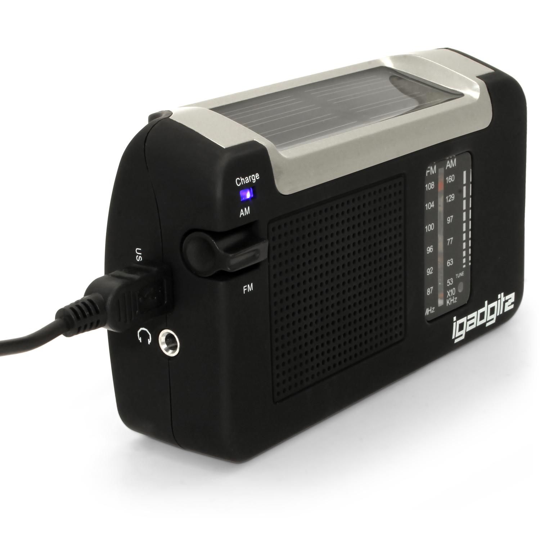 Dynamo Wind Up Solar Amp Usb Rechargeable Portable Am Fm