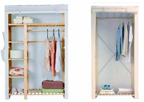 Wooden Wardrobes Hanging Clothes