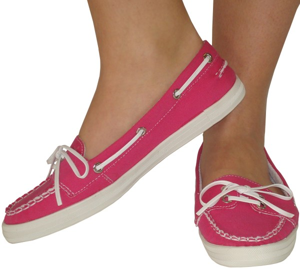 SALE NEW WOMENS PINK LOAFERS PUMPS LADIES DECK SHOES 3 | eBay