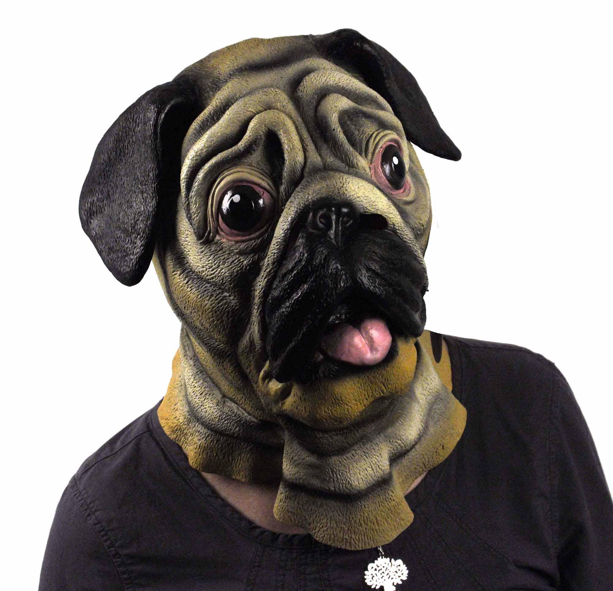 Pug Dog Head Lifesize Head Mask Pink Cat Shop
