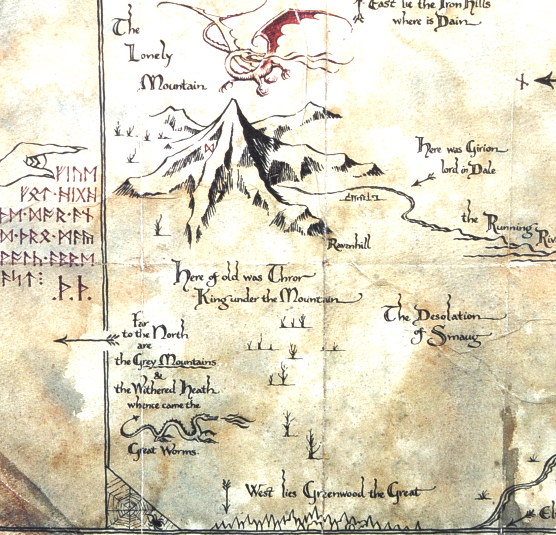 The Hobbit Map Amp Key Of Thorin Oakenshield By The Noble