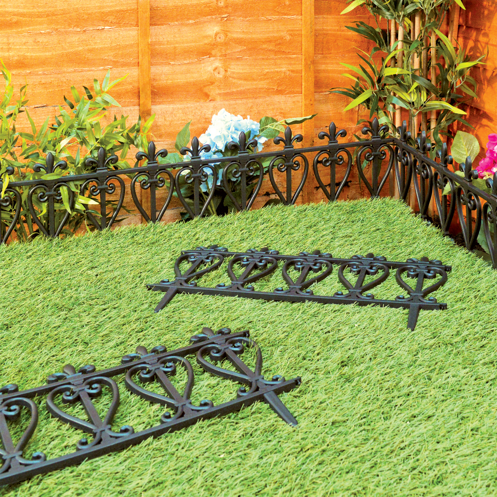 Victorian Garden Fence Heavy Antique Finish Old English
