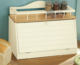Details about WOODEN BREAD BIN Wood With Top Shelf Front Opening NEW