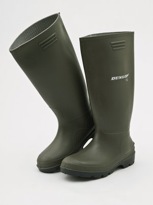 Mill Outlets Green Dunlop Wellington Boots