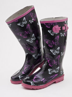 Mill Outlets - Ladies Butterfly Wellies