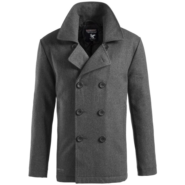 SURPLUS-CLASSIC-NAVY-PEA-COAT-WARM-MENS-WINTER-WOOL-REEFER-JACKET ...