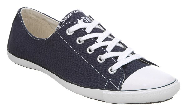 Womens Converse Ct Lite Ox Navy Blue/white Trainers Shoes ...
