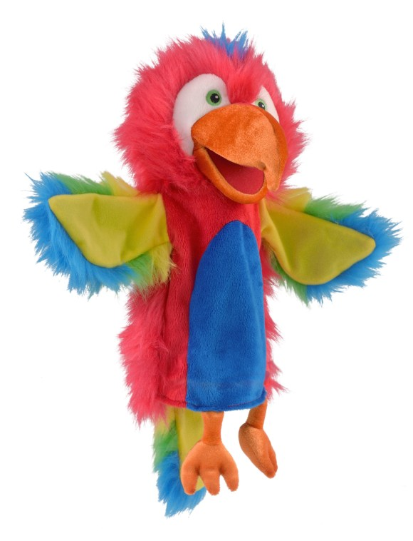 Parrot & Moving Mouth Hand Puppet For Story Telling & Role ...