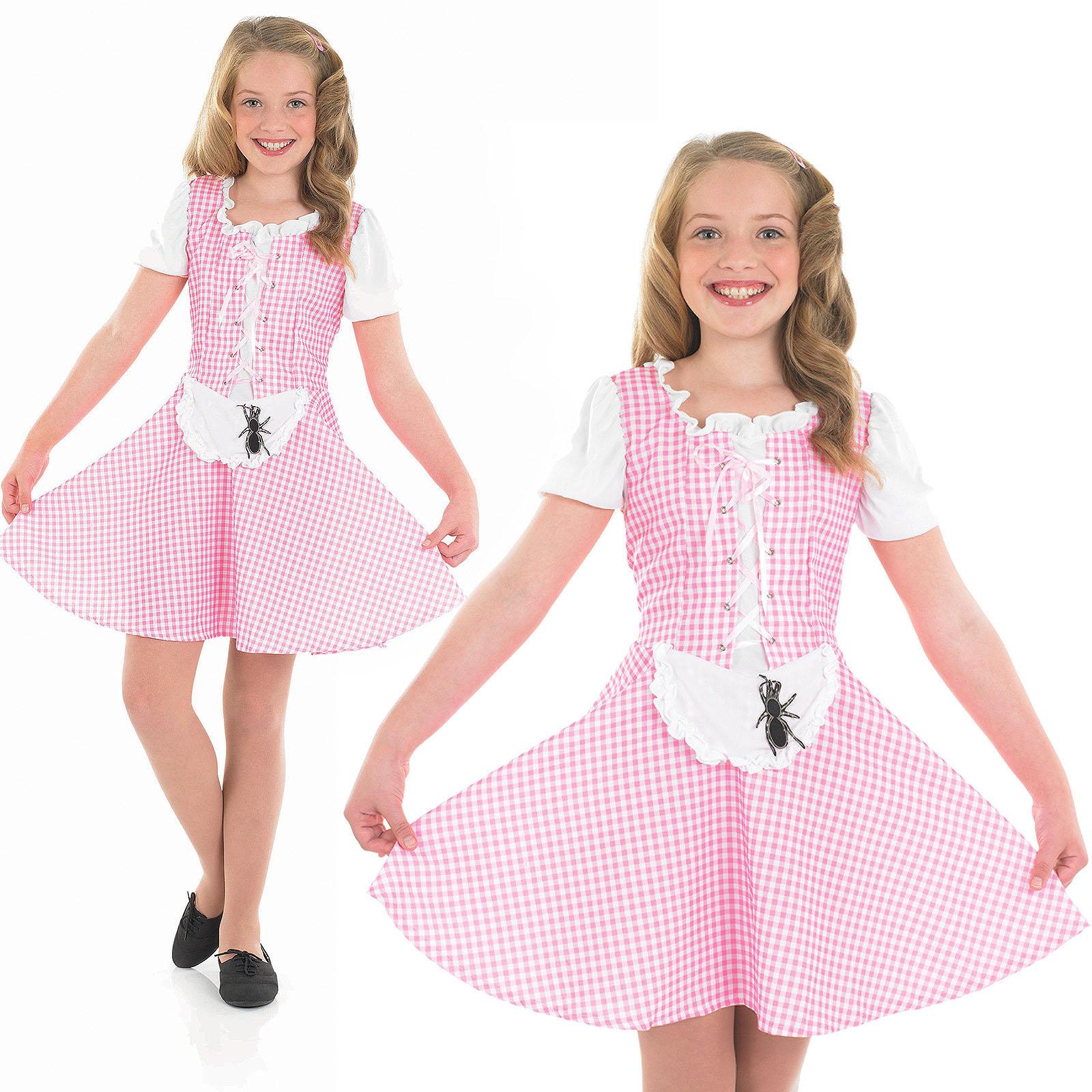 Childrens Little Miss Muffet Girl Fancy Dress Costume