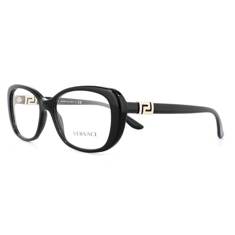 96b742fba52 Versace Gl Frames 3234b Gb1 Black 53mm Womens 8053672644838