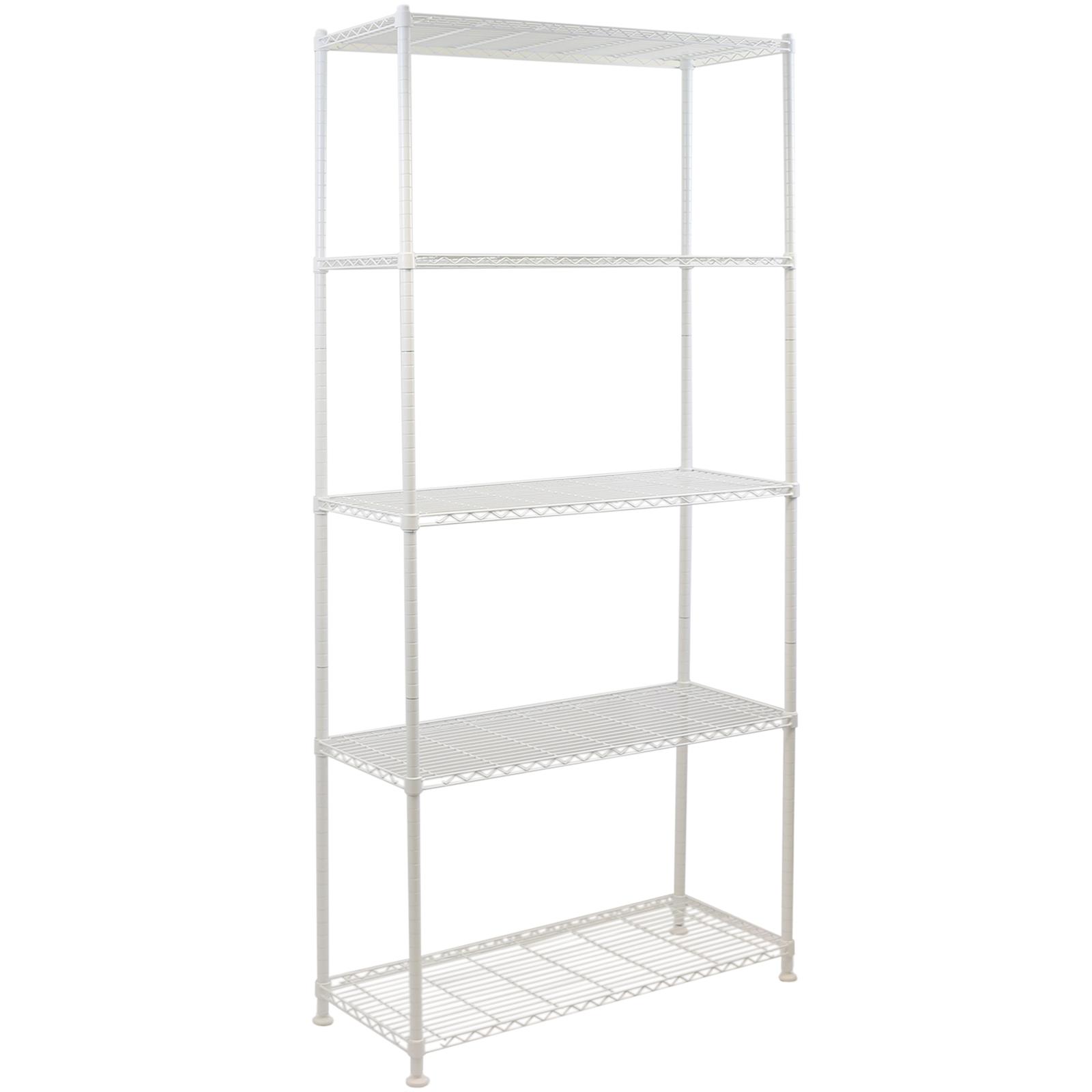 5 Tier Metal Storage Rack Shelving Book Shelf Kitchen