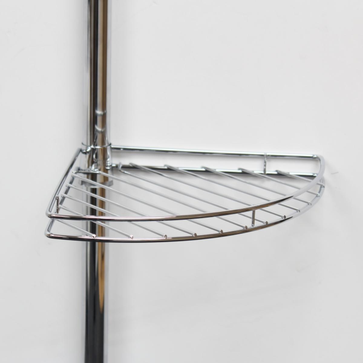METAL CORNER SHOWER/BATHROOM TIDY BASKET CADDY/SHELF ... on Bathroom Corner Shelf  id=88220