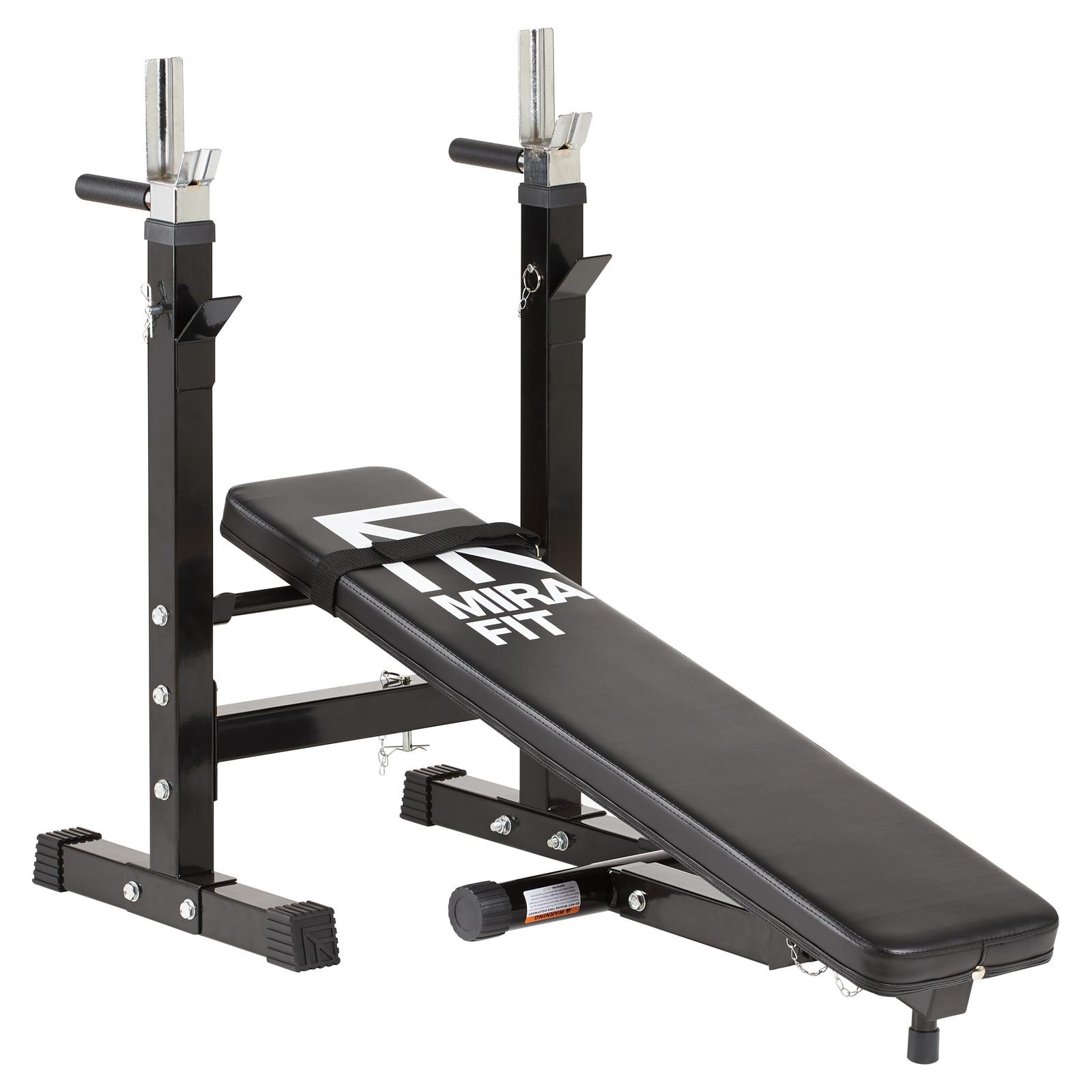 Mirafit Adjustable Folding Flat Weight Bench Amp Dip Station