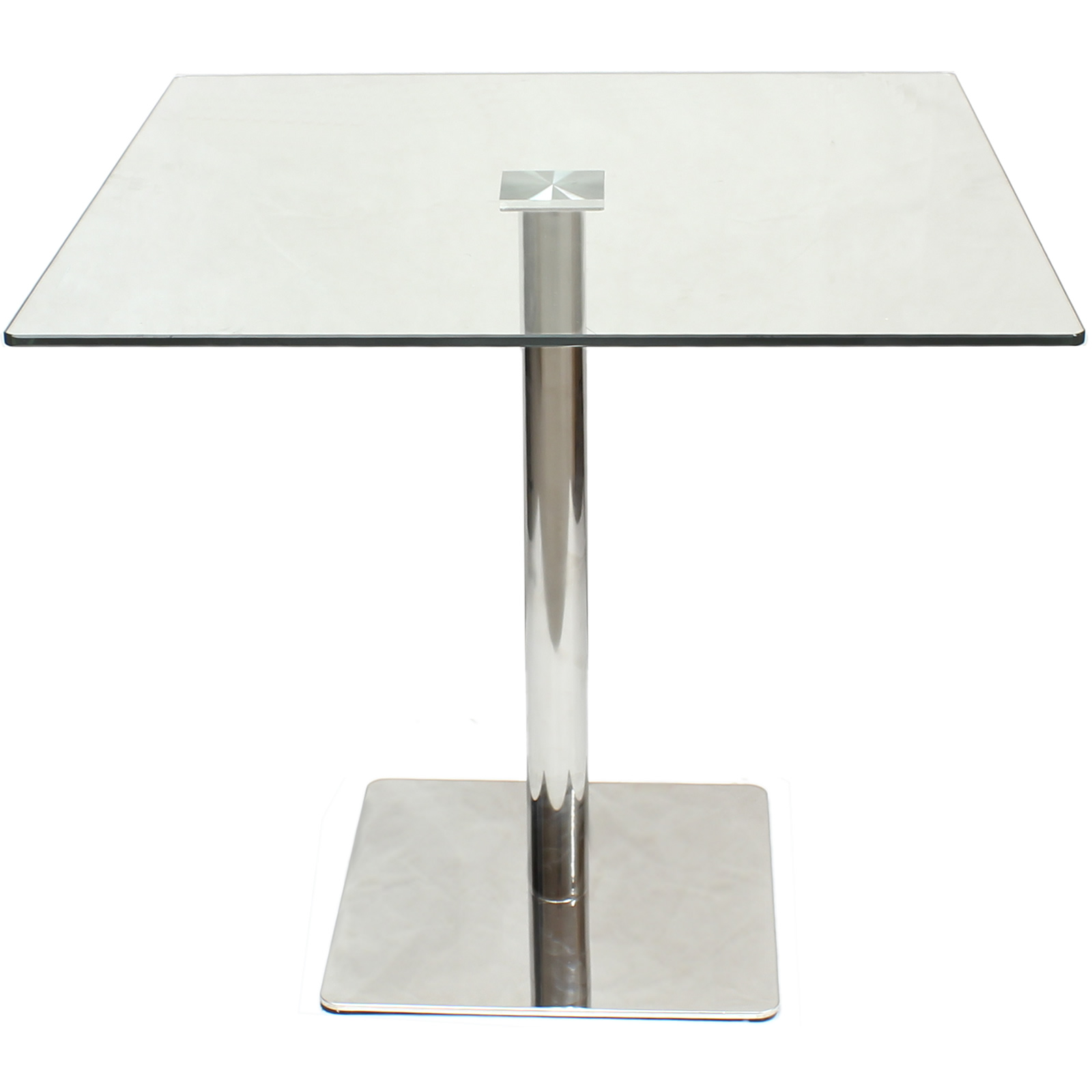 LARGE SQUARE CLEAR GLASS DININGBISTRO TABLE BARCAFE STYLEBREAKFASTKITCHEN 5051990995215 EBay