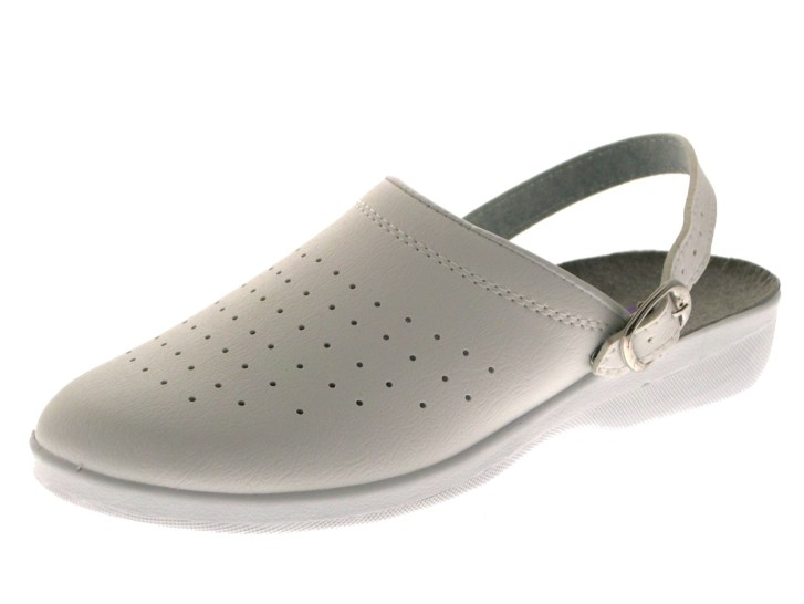 Womens White Toe Hospital Kitchen Clogs Ladies Work Mules Shoes