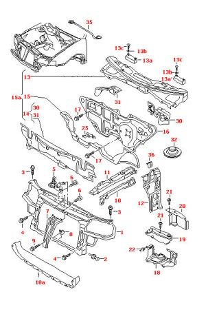 NEW GENUINE AUDI A3S3SPORT BACK (19972003) UPPER LEFT FILLER PLATE 8L0810125 | eBay