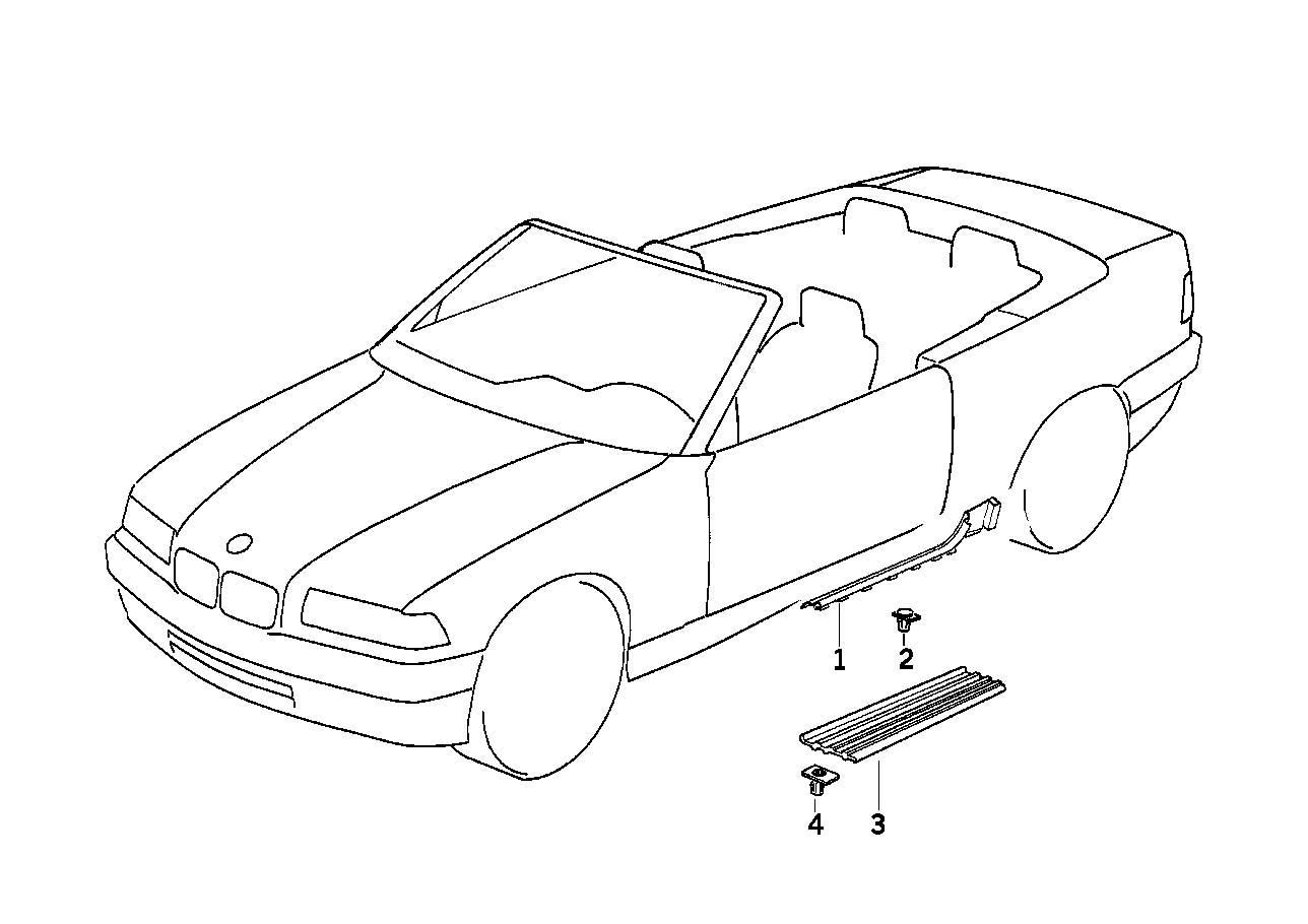 Bmw E36 Front Right Or Left Entry Tread Step Plate In