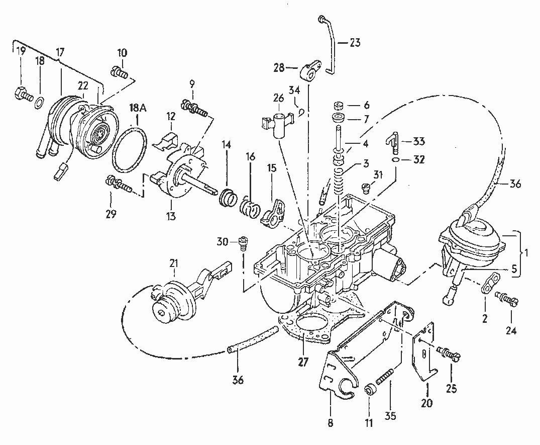 Vw Golf Jetta Passat Audi 80 90 100 81 84 Carburetor Choke Cover Unit J