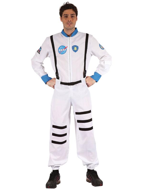Adult Spaceman Costume White Jumpsuit Astronaut NASA ...