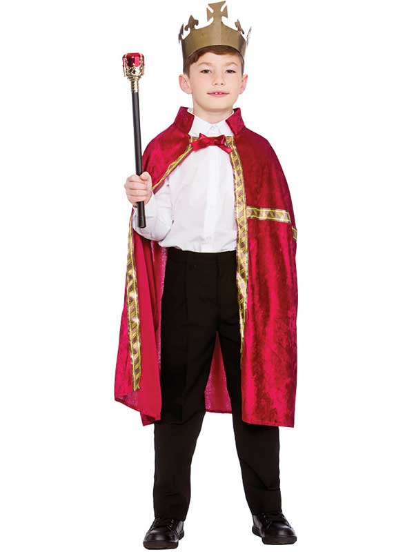 Child Deluxe King Queen Robe Amp Crown Burgundy Capes