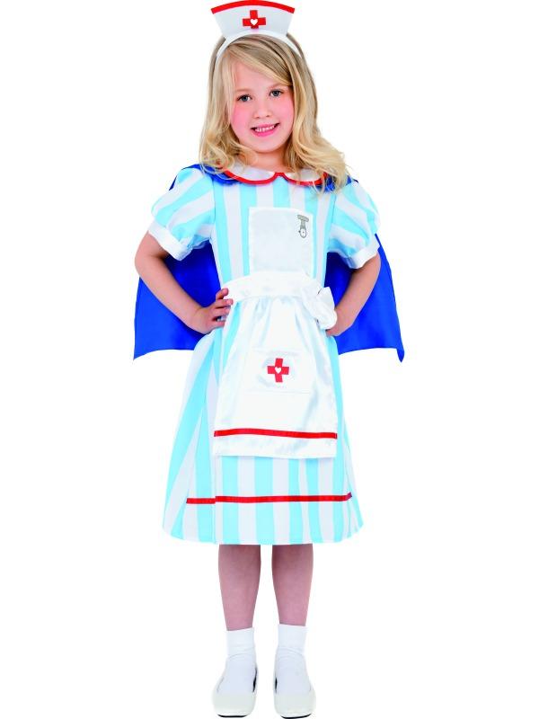Child Vintage Nurse Outfit Fancy Dress War Nurse Costume ...