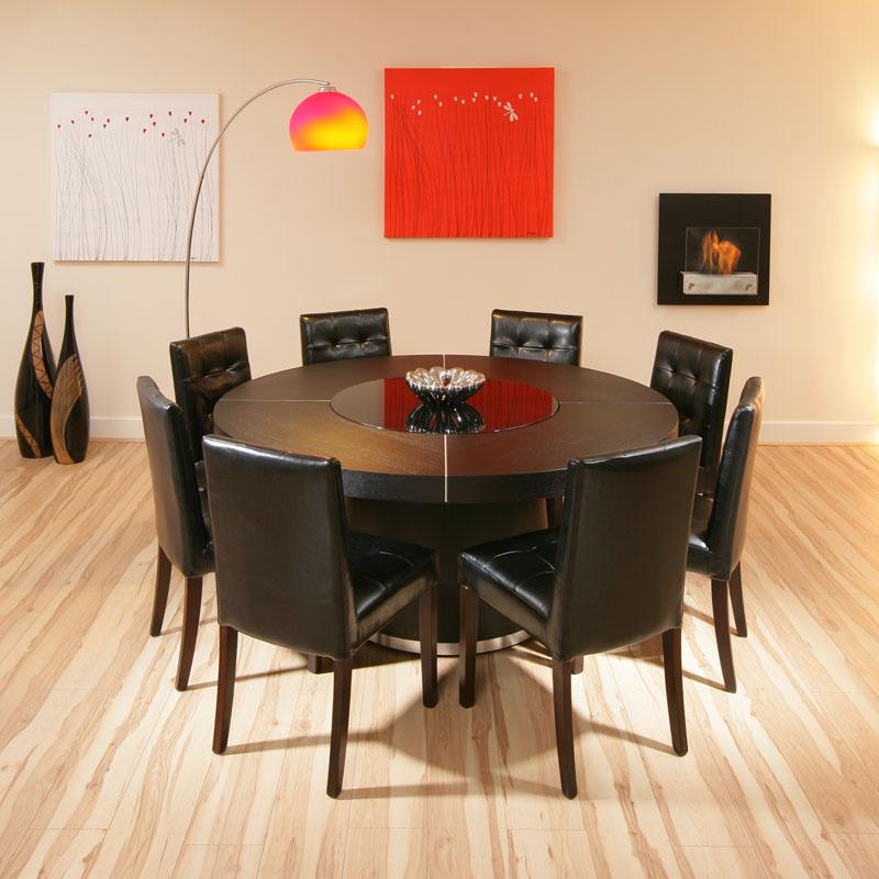 Round Dinner Table 8