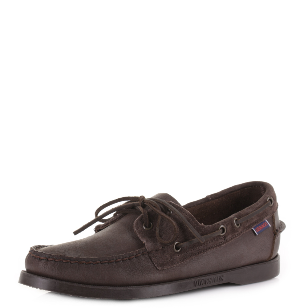 Dark Brown Leather Boat Shoes