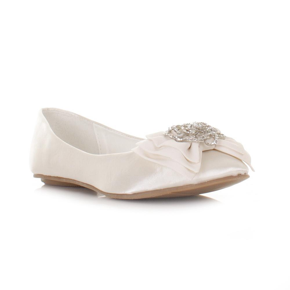 Flat Satin Wedding Shoes