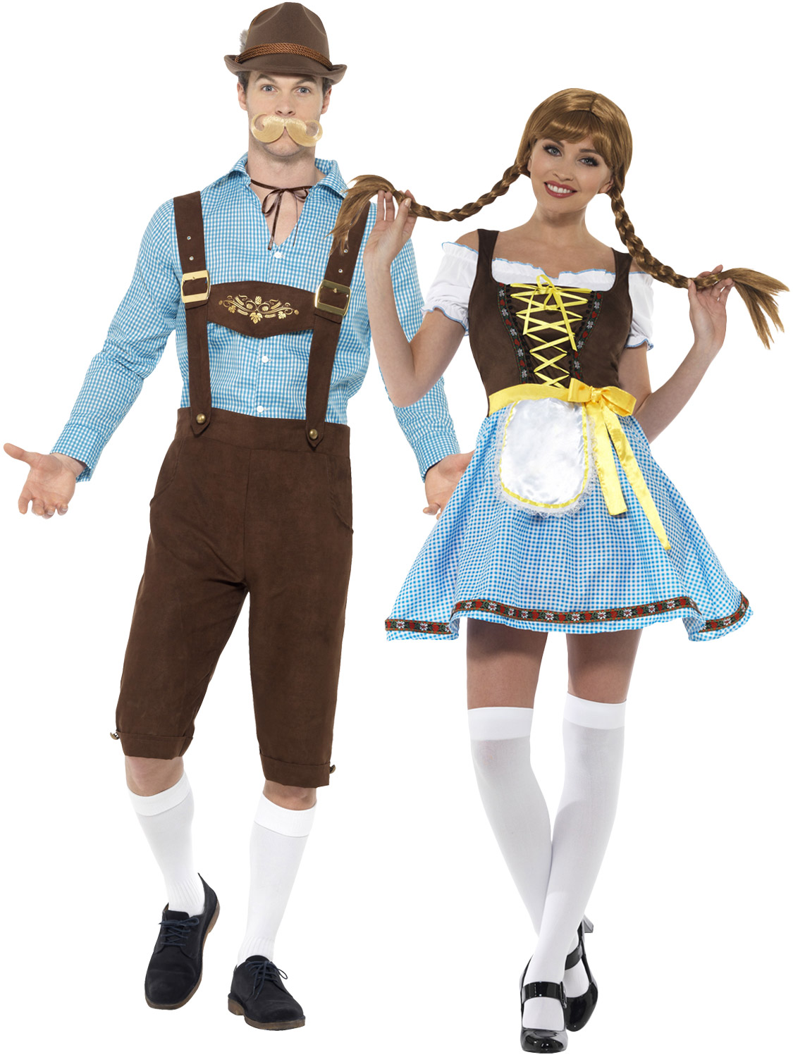 Mens Ladies Oktoberfest Costume Bavarian Beer Lederhosen Couples     Are you going to an Oktoberfest party  Transform yourself into a Bavarian  with either of these costumes    They would look great if you were dressing  up as a